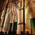 Illuminations de noël de l'église saint roch