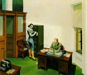 Edward Hopper, Office at Night