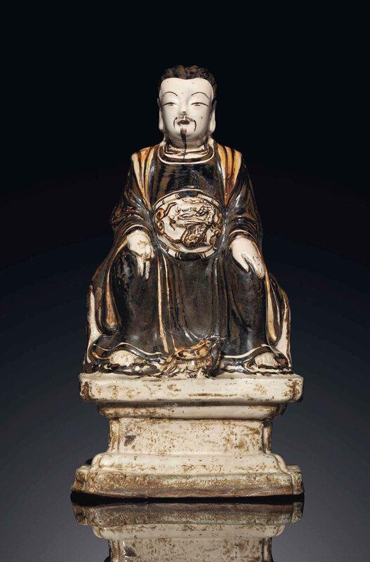 A Cizhou figure of Zhenwu, Ming dynasty, 15th century
