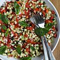 Salade de minis dés de petits légumes croquants