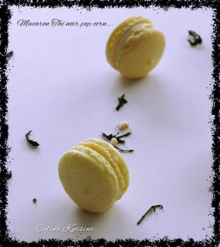 macaron thé noir