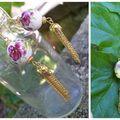 Boet collier céramique peinte et or