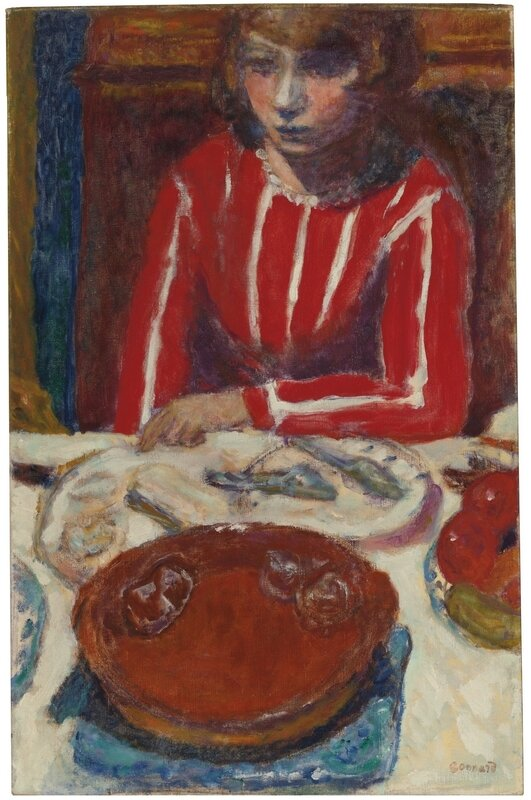 pierre bonnard femme à table