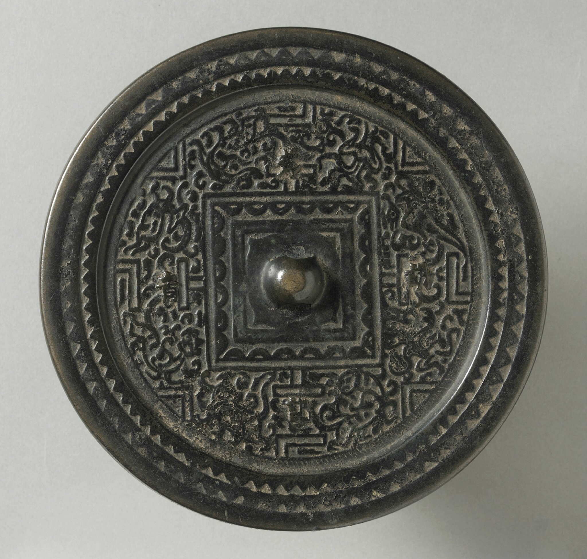 Mirror (Jing) with 'TLV' Design, China, Eastern Han dynasty, 25-220