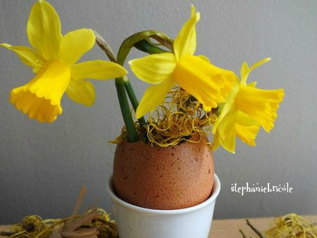 Tuto paques, diy paques, oeuf vase