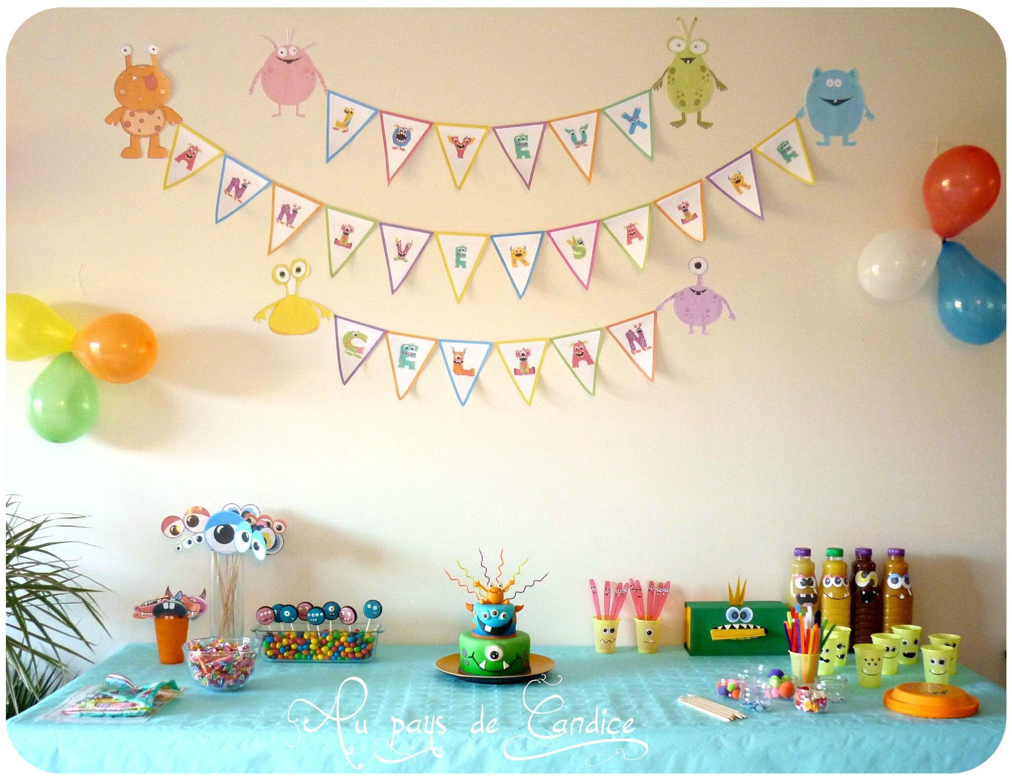 D coration et jeux pour un anniversaire monstres rigolos au pays de candice - Jeux de decoration de gateau ...