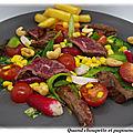 Salade de boeuf marine
