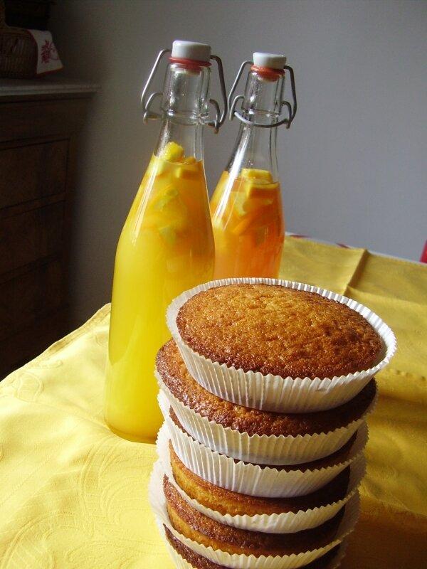 gâteaux et punch à l'orange