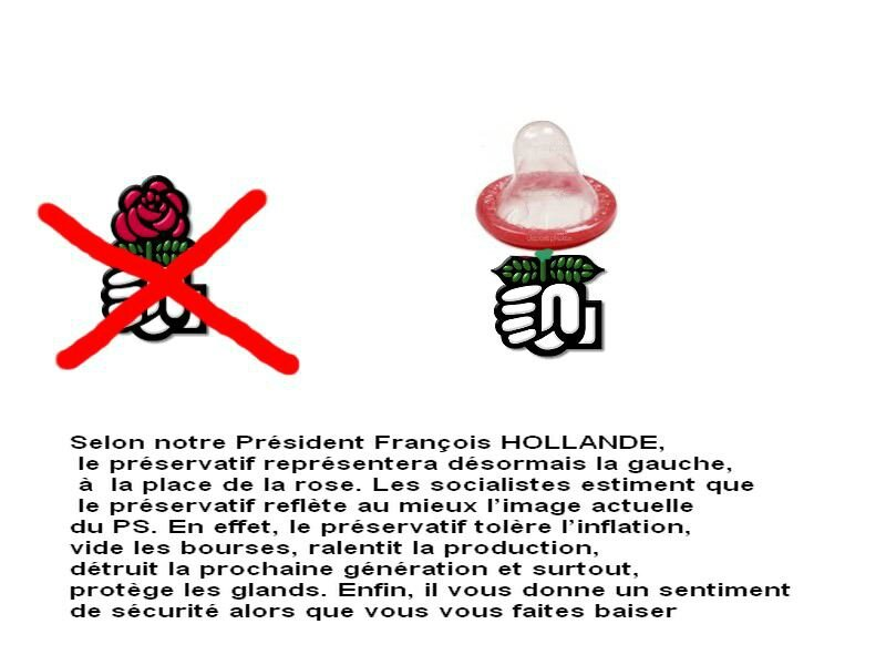 humour ps hollande rose preservatif