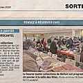 46e bourse toutes collections à belfort, article de l'est républicain annonçant la manifestation du 19 janvier