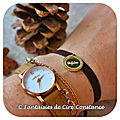 Plaqué or bracelet ruban élastique médaille gravée