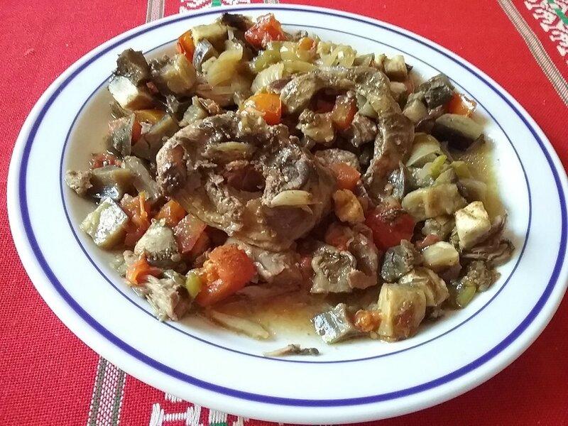 Tajine de mouton aux aubergines et aux épices (2)