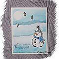 bonhomme de neige etoiles