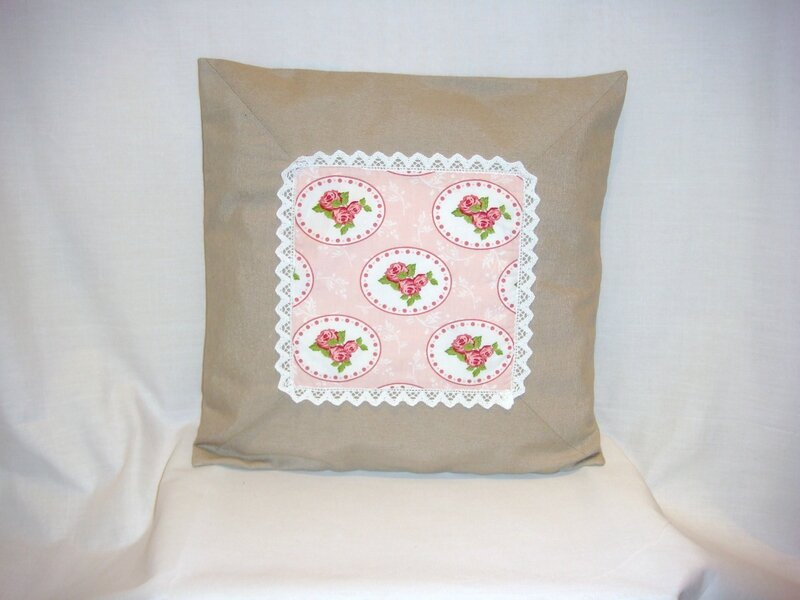 Housse coussin Shabby Chic face flash
