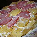Tatin de pommes de terre au saint-nectaire et au bacon