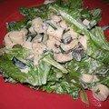Salade aux coeurs de palmiers chauds