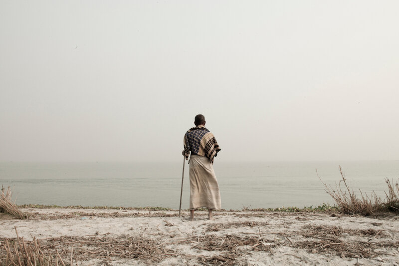 Suvra Kanti Das, Man by the Water – Ruined Landscape,