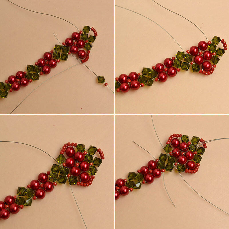 How-to-Make-a-Beaded-Christmas-Bracelet-with-Glass-Beads-and-Seed-Beads-5