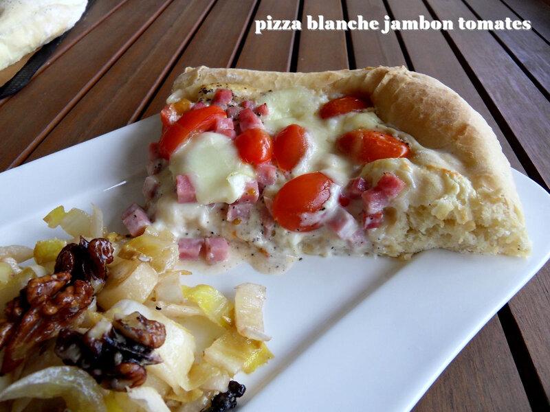 pizza blanche jambon tomates1