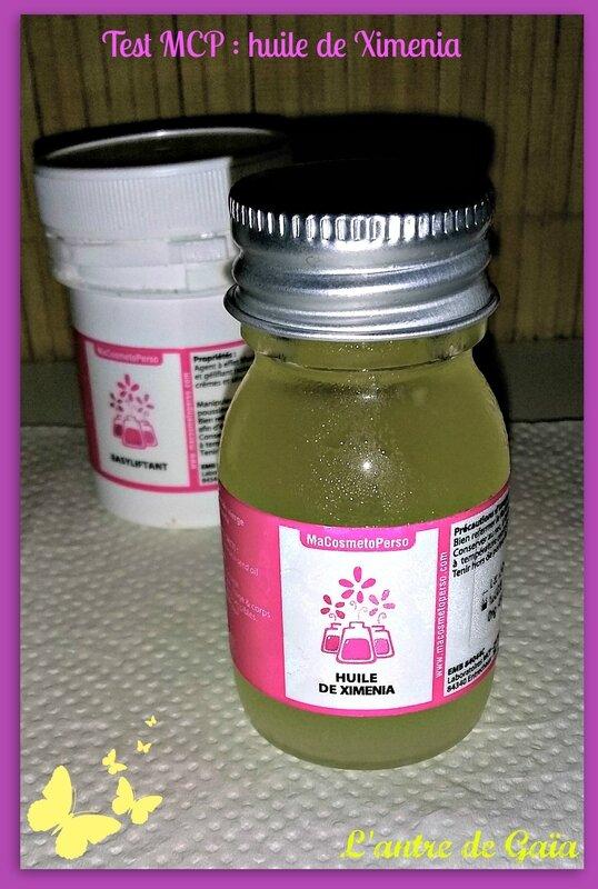 Test macosmetoperso huile de Ximenia