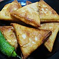 Boureks triangles pommes de terre poulet et fromage