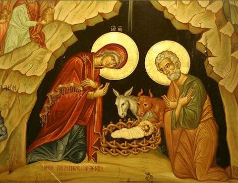 icône de la nativité,