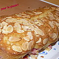 Cake gourmand groseille amandine j'ai besoin de :
