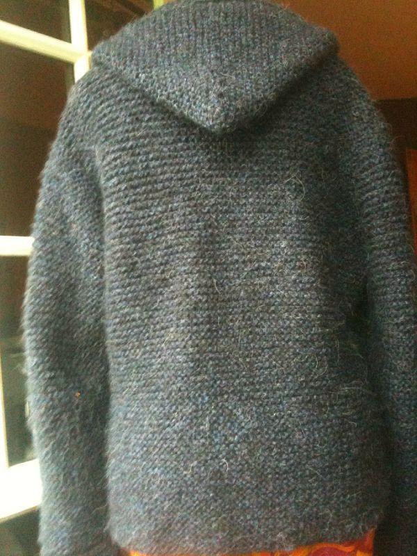 Veste capuche femme tricot