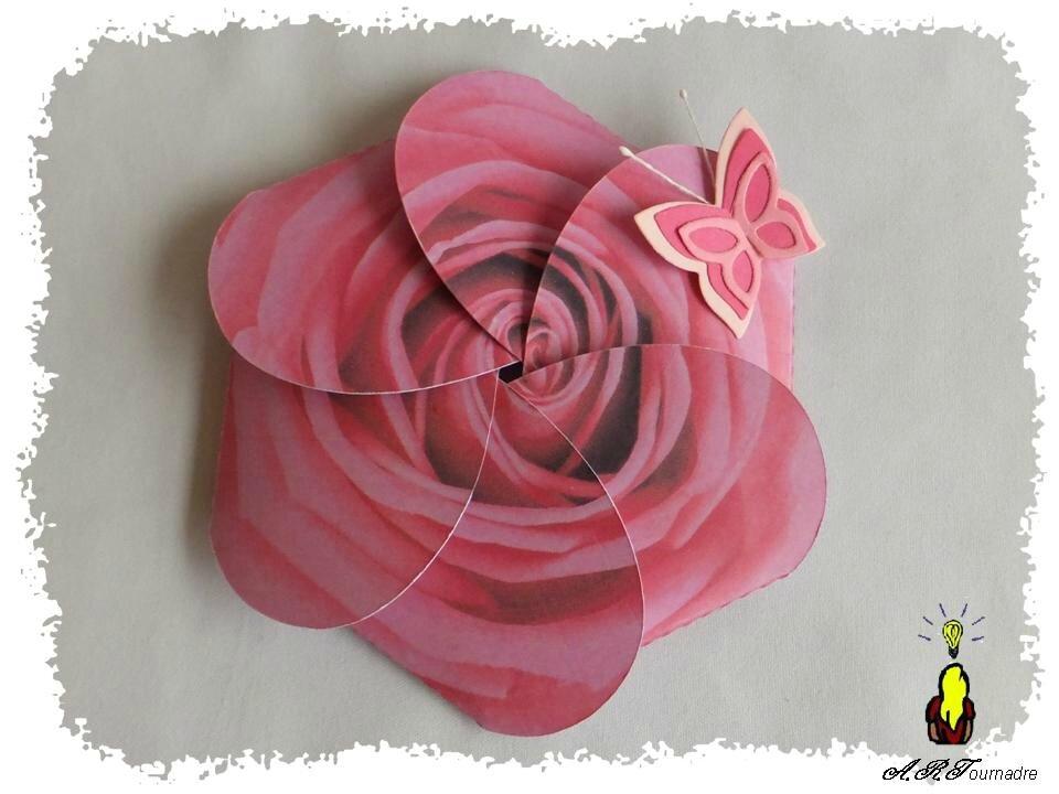 Carte De Fete Des Meres Card I Gami La Rose Qui Eclos Les