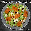 Salade aux poissons panés