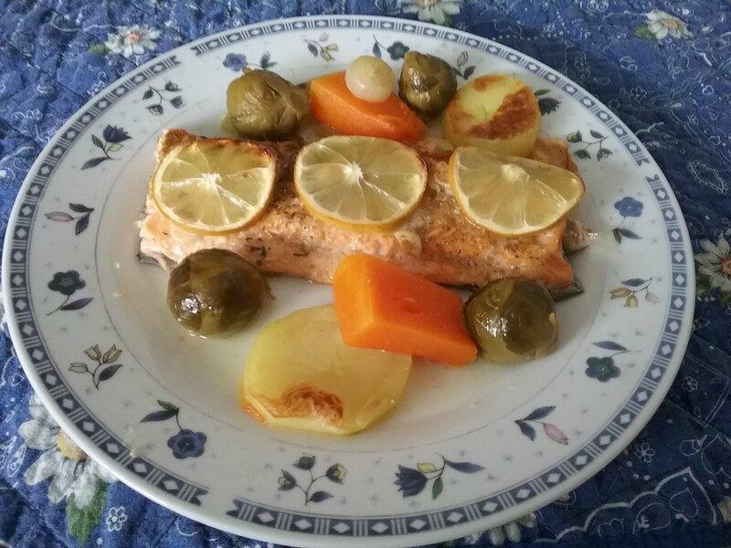 Filets de truite aux légumes et au citron (2)