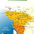 Conflits sur la question de la langue en aguiaine (angoumois-aunis-pays gabaye-poitou-saintonge)