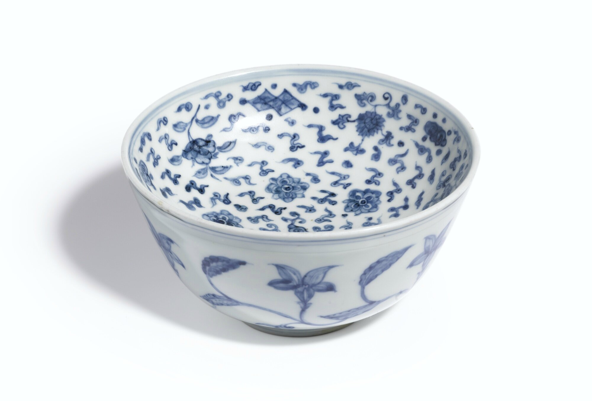 A rare blue and white warming bowl, Ming Dynasty, Chenghua Period