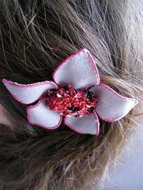 Barrette fleur de laine