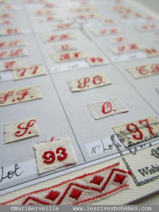 Marimerveille détail carte rubans lettres