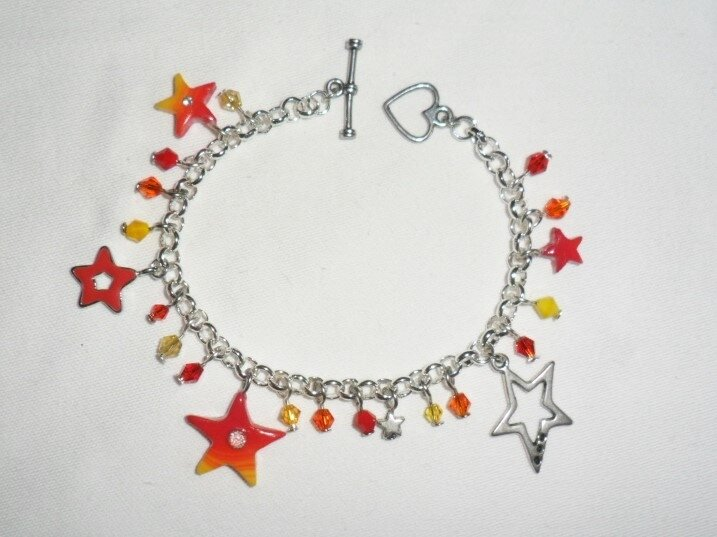 jaune orange rouge bracelet étoile 1-6