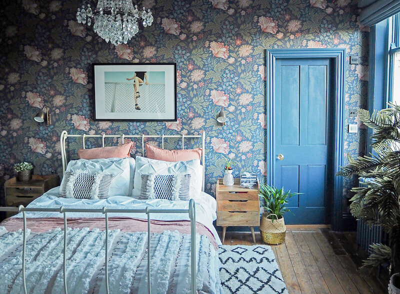 11-Charming-Master-Bedroom-in-the-Baker-Familys-Colorful-Victorian-DesignSponge