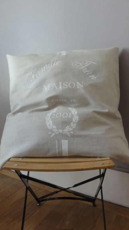 coussin 65x65 lin
