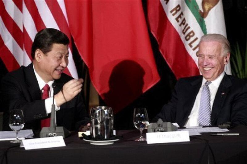 Joe Biden vp & Xi Jinping