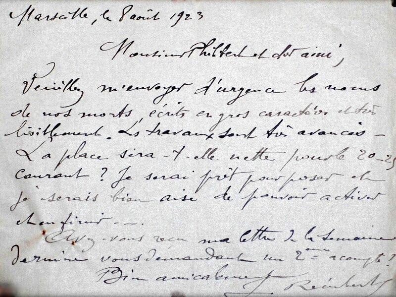 Barjols lettre Récubert