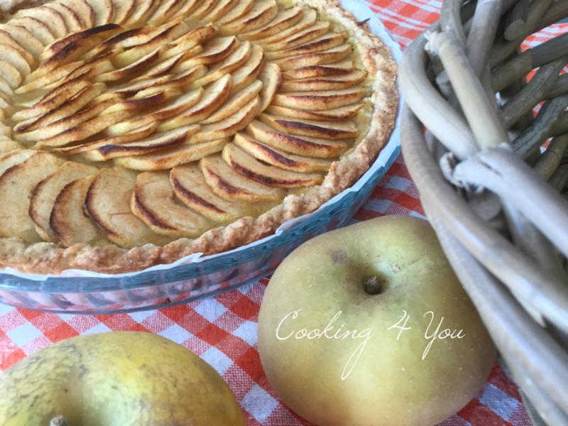 tarte pommes creme d'amande compote 047