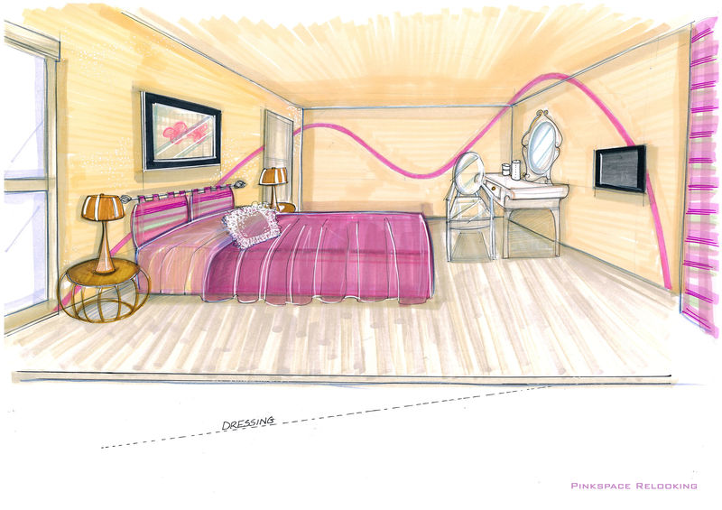 Beautiful Chambre En Perspective Lineaire Gallery - House Design ...