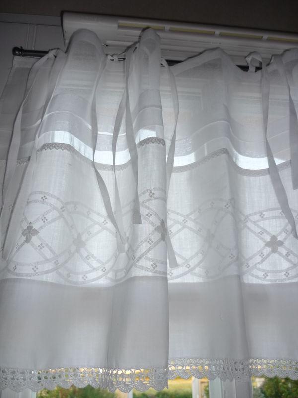magnifique porti re en drap ancien l 39 atelier de cr ation lin dentelle. Black Bedroom Furniture Sets. Home Design Ideas