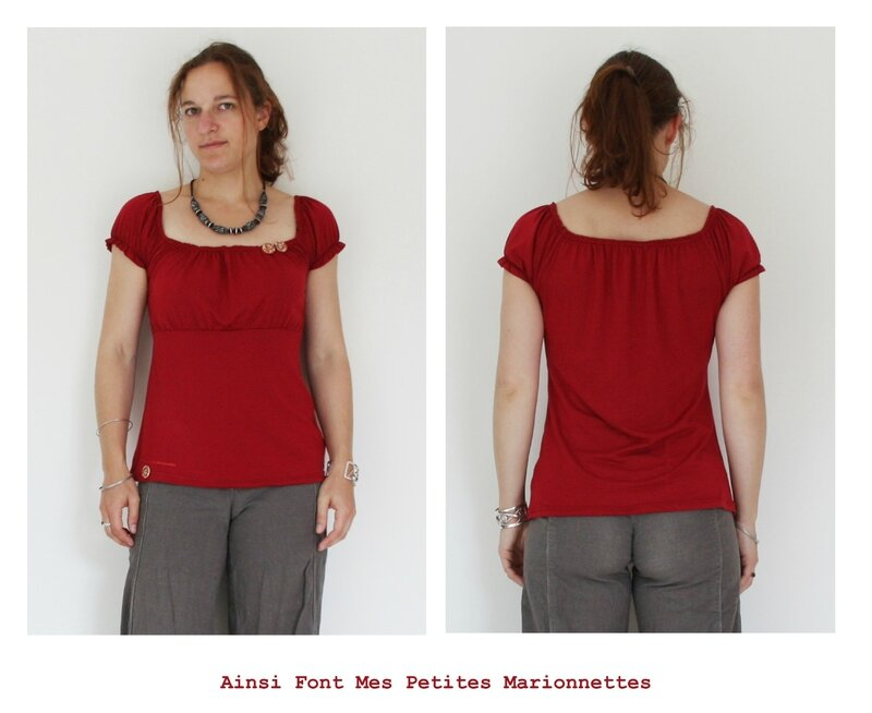 top froncee rouge 4