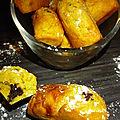 Muffin citrouille oranges confites coeur chocolat