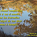 Des choses temporelle/éternelles - thomas a kempis (citation)