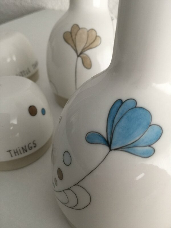 The little things - Peinture sur porcelaine