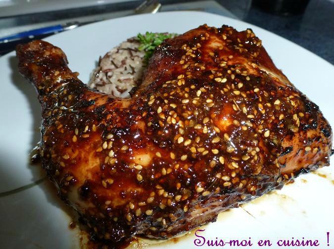 Poulet Marine Teriyaki Moutarde Miel Et Sesame Suis Moi En Cuisine
