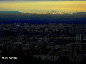 vue sur parilly et la chaîne des Alpes