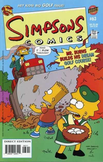 bongo simpsons comics 63